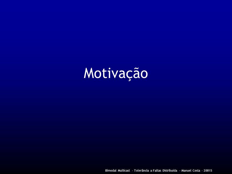 Bimodal Multicast - Tolerância a Faltas Distribuída – Manuel Costa - 20815 Motivação