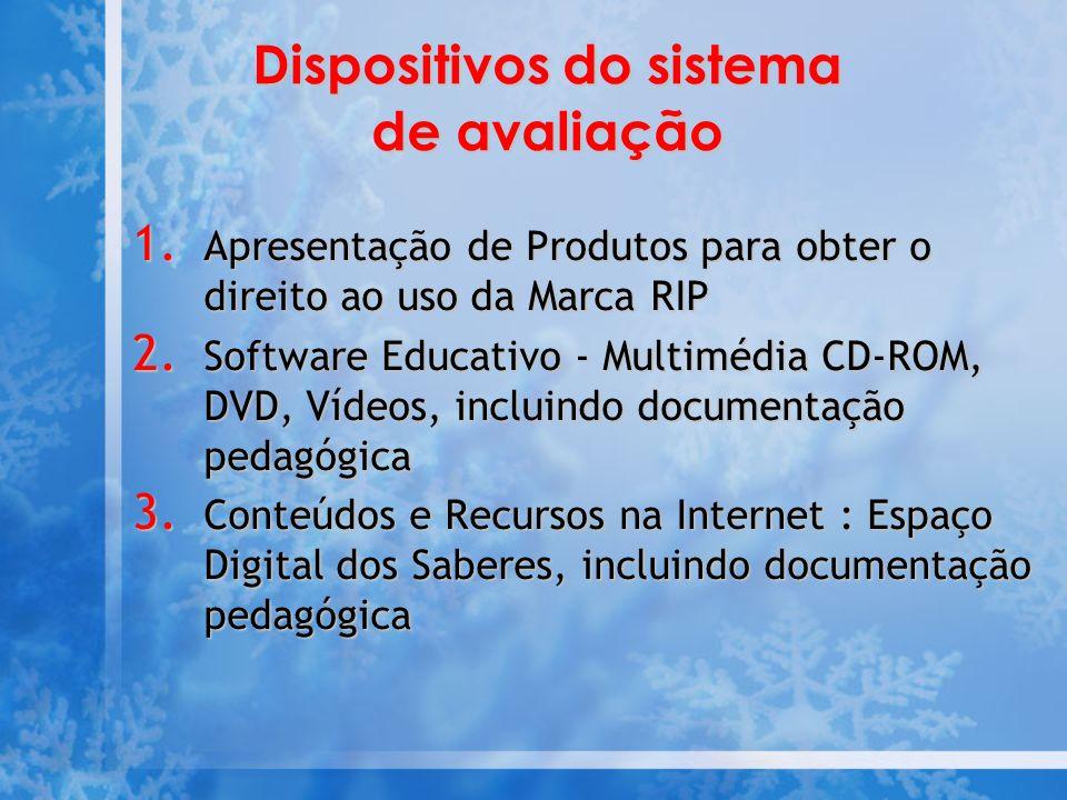 Dispositivos do sistema de avaliação 1.