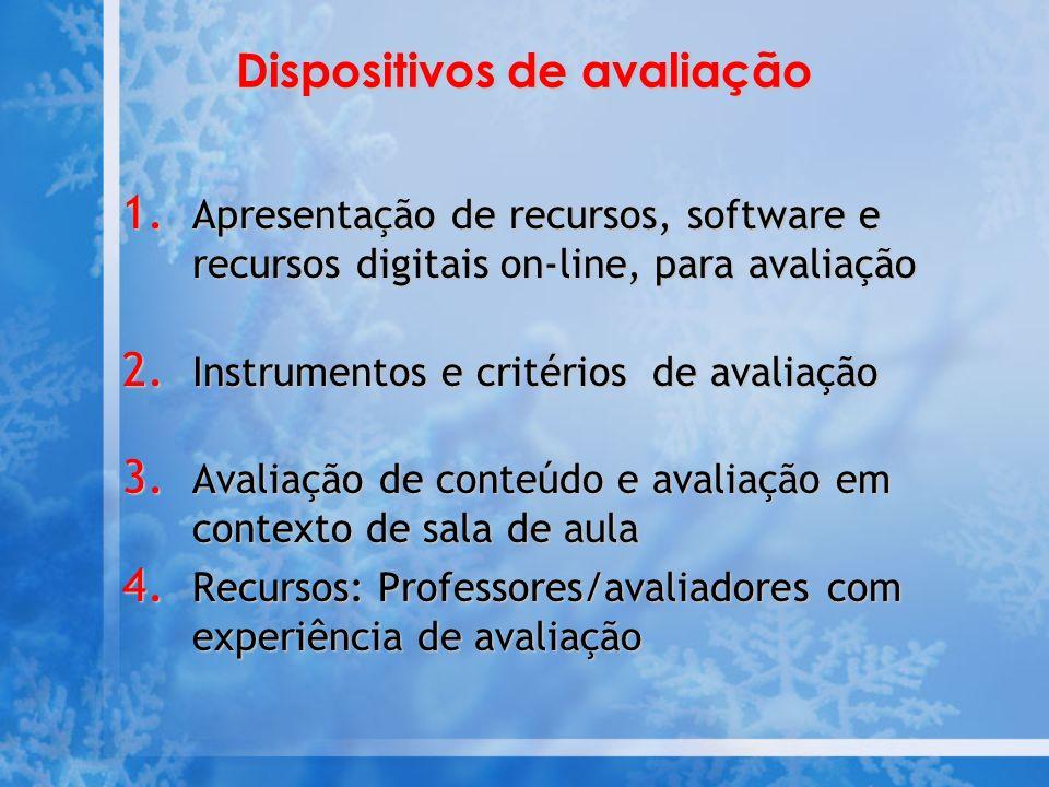 Dispositivos de avaliação 1.