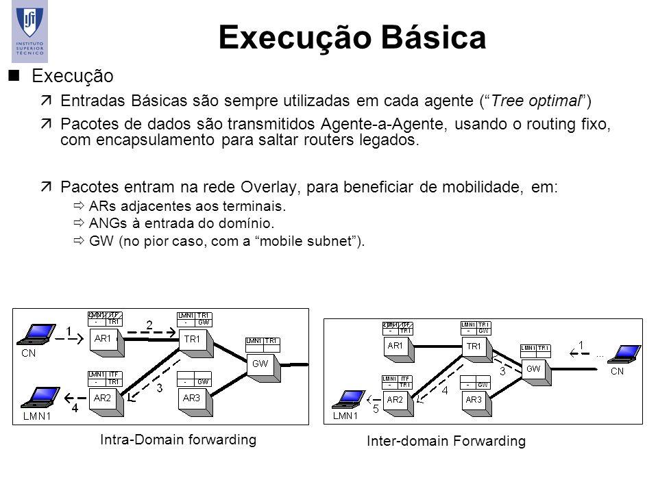 49 Execução Básica nExecução äEntradas Básicas são sempre utilizadas em cada agente (Tree optimal) äPacotes de dados são transmitidos Agente-a-Agente,