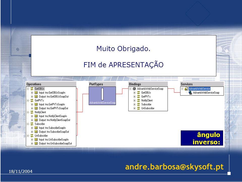 18/11/2004 Muito Obrigado. FIM de APRESENTAÇÃO ângulo inverso: andre.barbosa@skysoft.pt