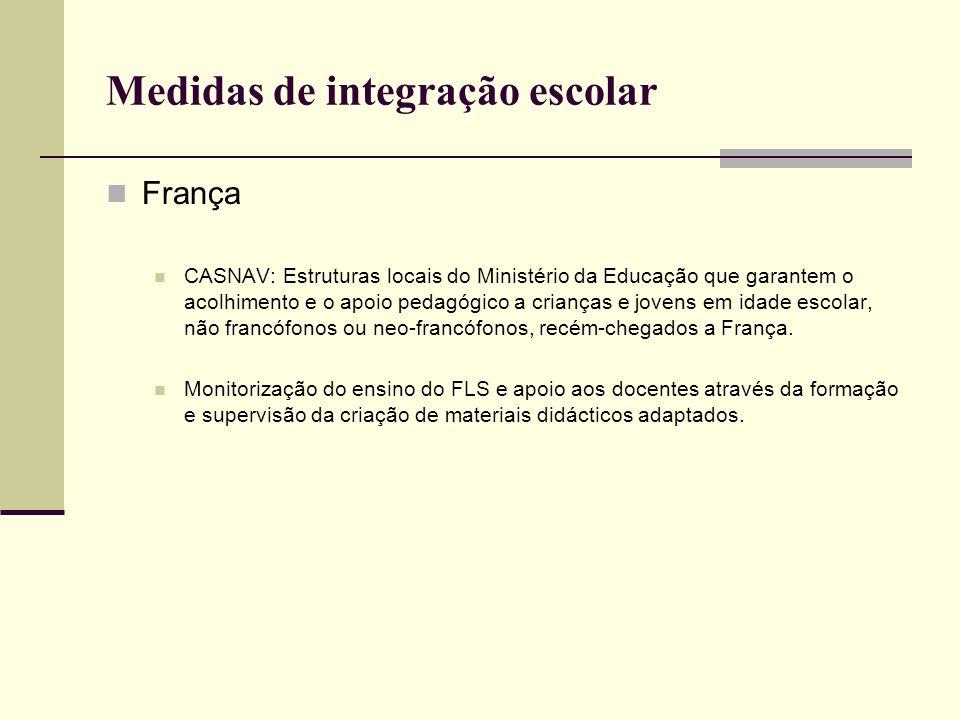 Medidas de integração escolar França CASNAV: Estruturas locais do Ministério da Educação que garantem o acolhimento e o apoio pedagógico a crianças e