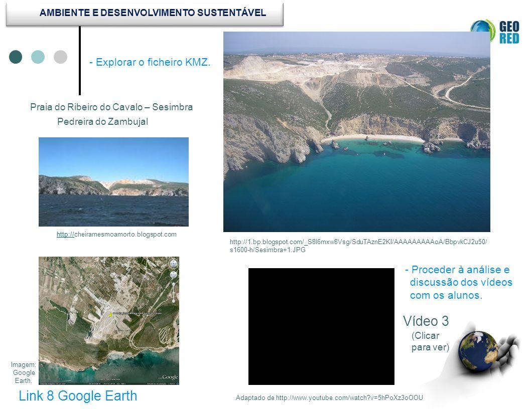 Link 8 Google Earth Vídeo 3 Adaptado de http://www.youtube.com/watch?v=5hPoXz3oOOU http://1.bp.blogspot.com/_S8l6mxw8Vsg/SduTAznE2KI/AAAAAAAAAoA/Bbpvk