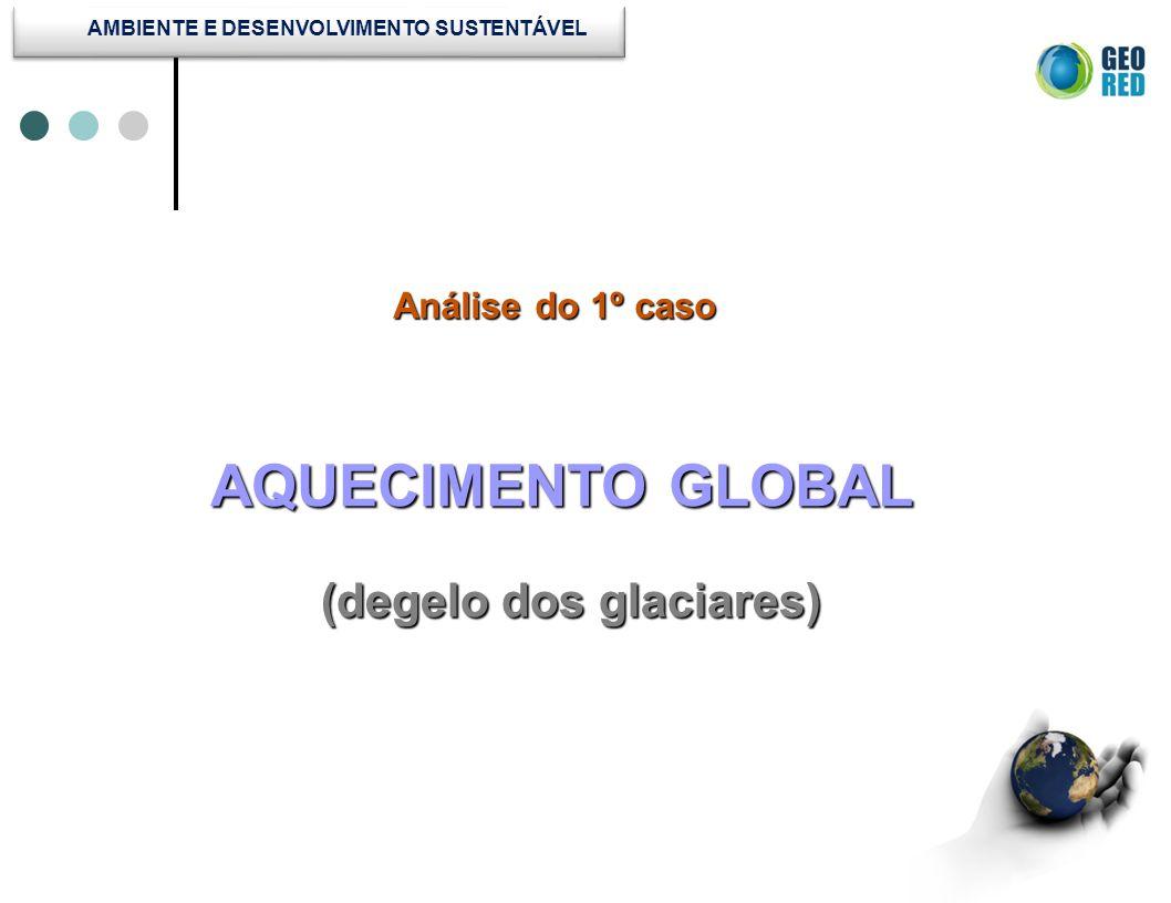 Análise do 1º caso Análise do 1º caso AQUECIMENTO GLOBAL (degelo dos glaciares)