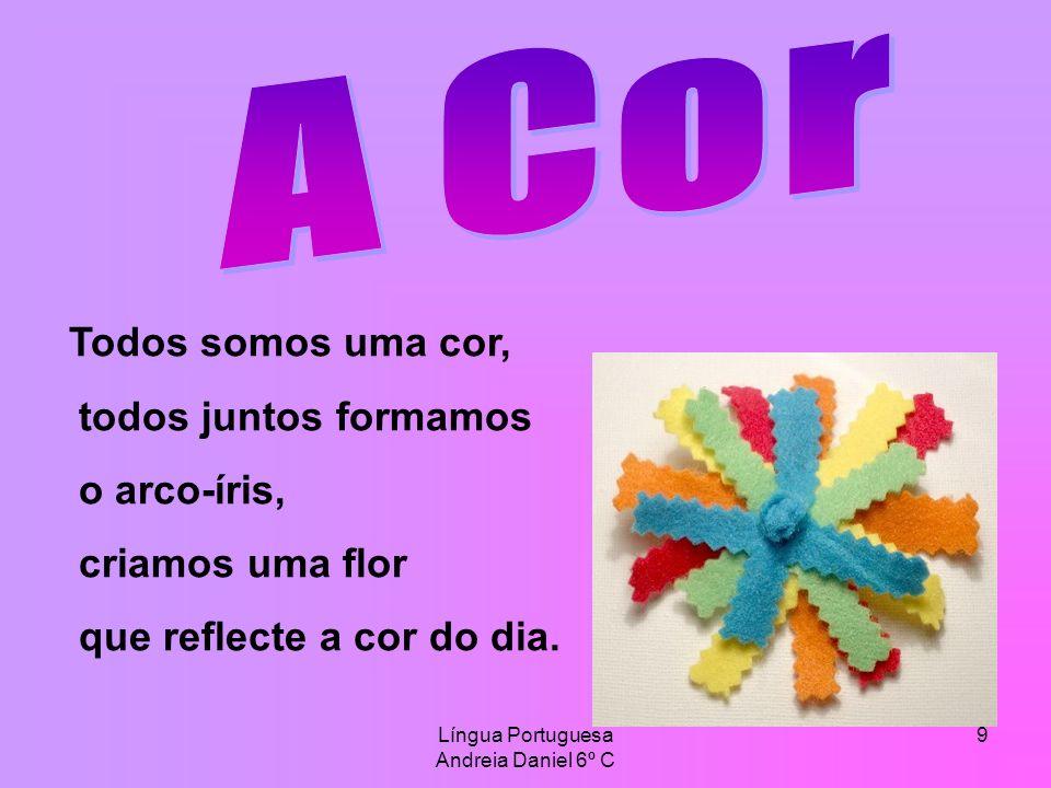 Língua Portuguesa Andreia Daniel 6º C 10 O tom da cor é muito reconfortante.