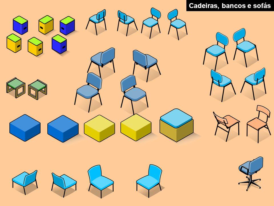 Cadeiras, bancos e sofás