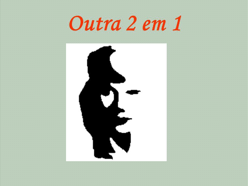 Resposta Na figura é possível observar duas imagens: - Um vaso - Duas caras ( uma de frente para a outra)