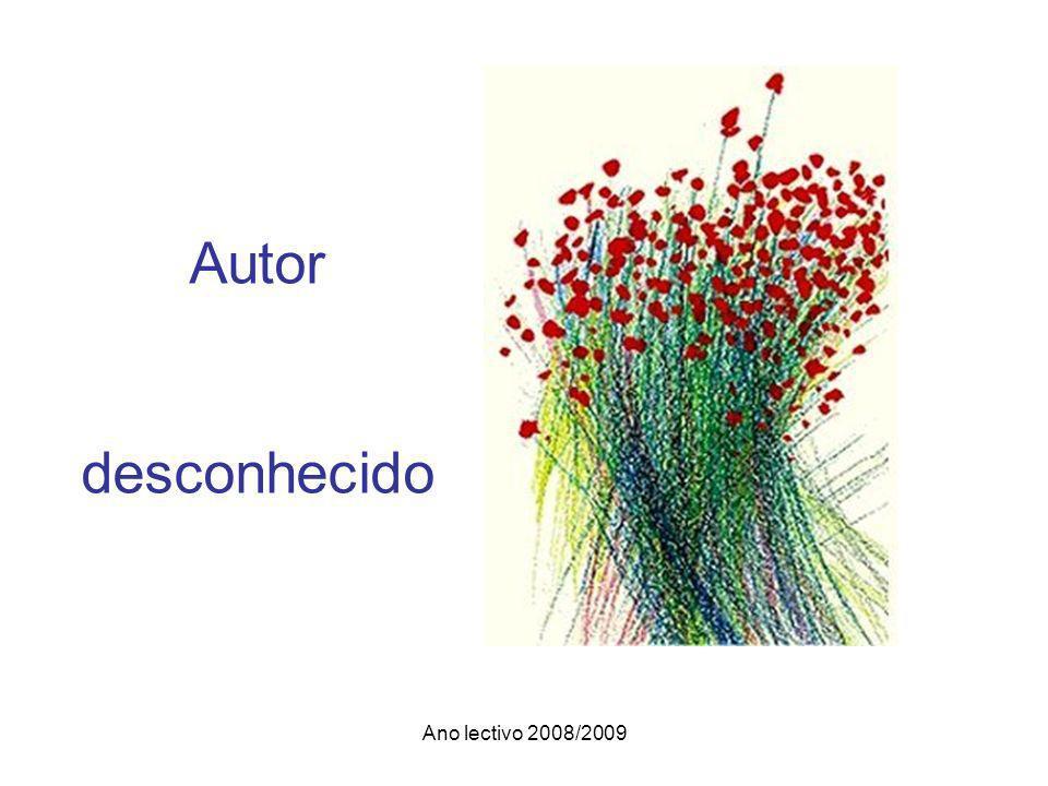 Ano lectivo 2008/2009 Autor desconhecido