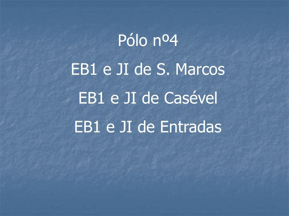 Pólo nº4 EB1 e JI de S. Marcos EB1 e JI de Casével EB1 e JI de Entradas