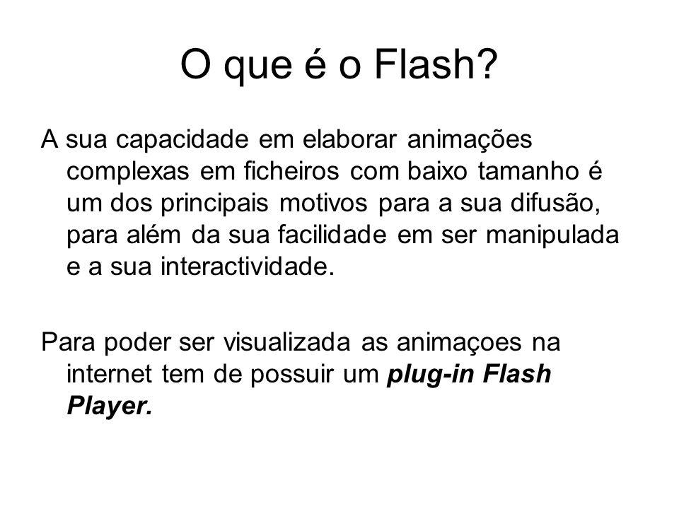 O que é o Flash? A sua capacidade em elaborar animações complexas em ficheiros com baixo tamanho é um dos principais motivos para a sua difusão, para