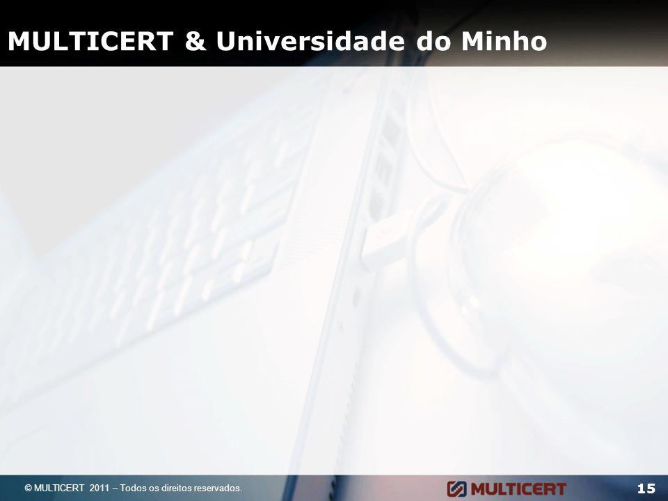 MULTICERT & Universidade do Minho 15 © MULTICERT 2011 – Todos os direitos reservados.