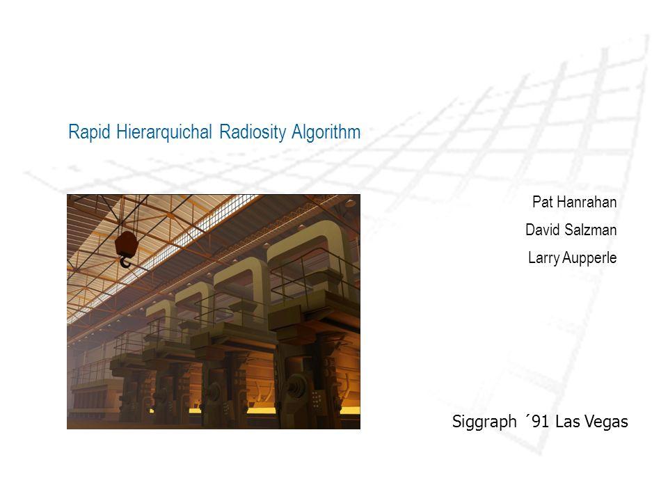 Para a criação de imagens por computador a aproximação com mais sucesso foi a radiosidade Assume que todas as superfícies são difusas e reflectoras Introdução Rapid Hierarquichal Radiosity Algorithm Permite uma computação directa do equilíbrio distribuição da luz em cenas com geometrias complexas