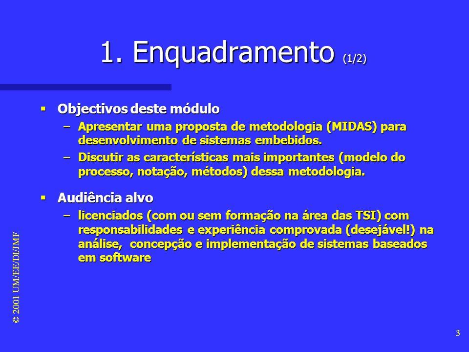 © 2001 UM/EE/DI/JMF 2 Sumário 1. Enquadramento 2.