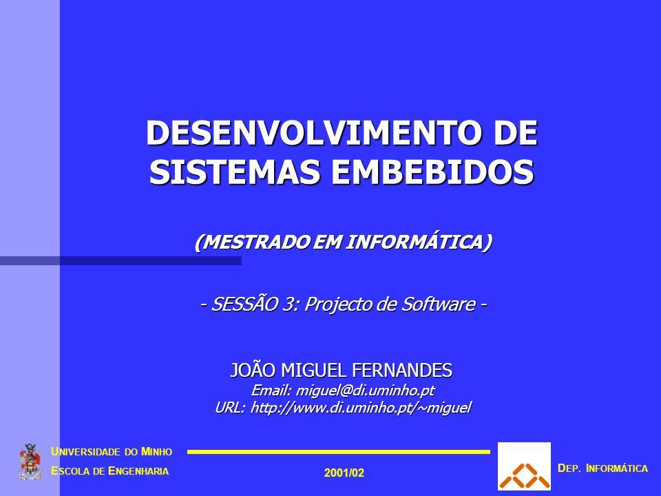 © 2001 UM/EE/DI/JMF 11 Mito #1 do cliente Mito #1 do cliente 2. Mitologia do Software (7/15)