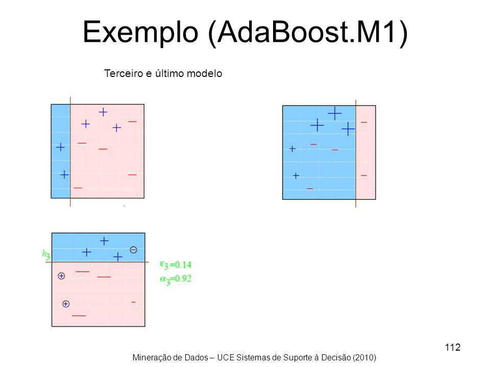 Mineração de Dados – UCE Sistemas de Suporte à Decisão (2010) 112 Exemplo (AdaBoost.M1) Terceiro e último modelo