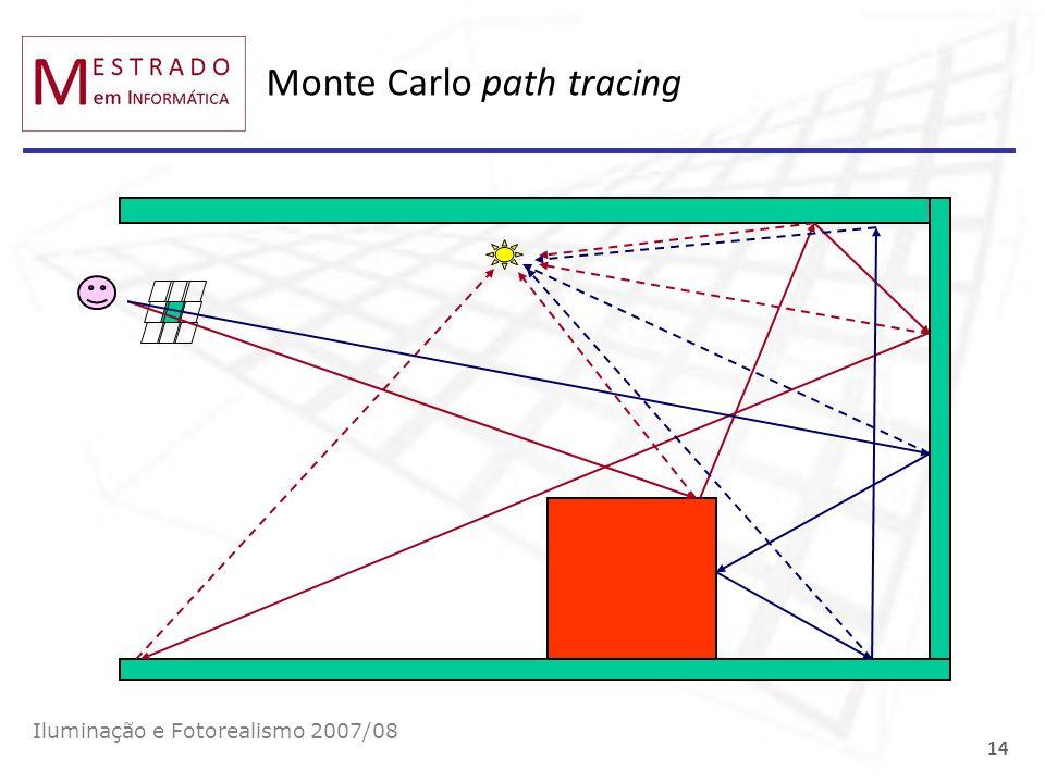 Monte Carlo path tracing Iluminação e Fotorealismo 2007/08 14