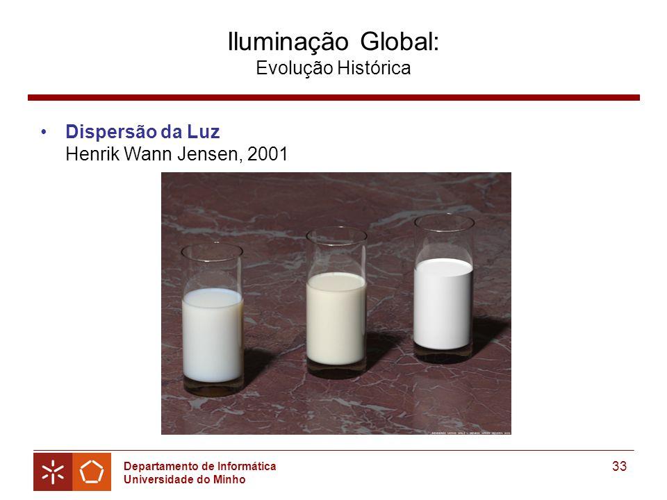 Departamento de Informática Universidade do Minho 33 Iluminação Global: Evolução Histórica Dispersão da Luz Henrik Wann Jensen, 2001