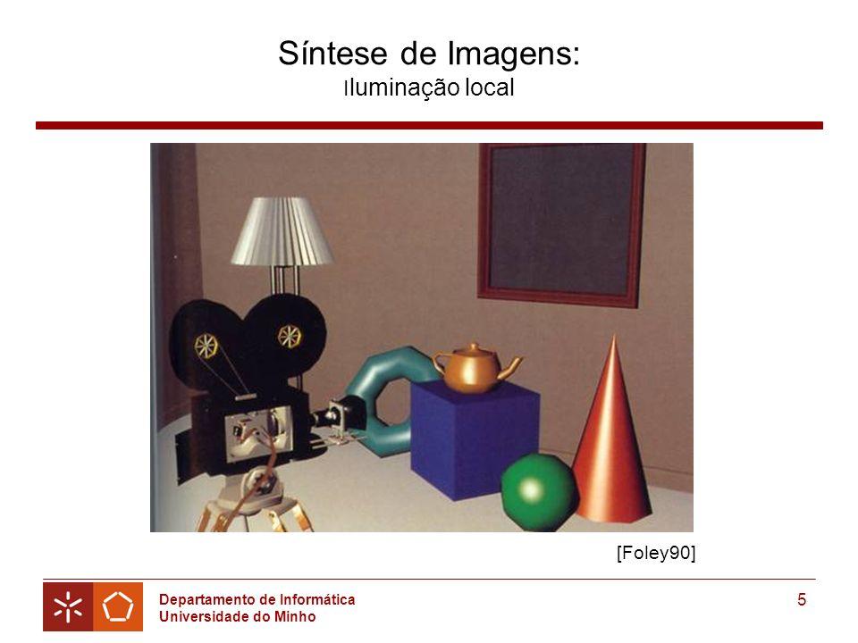 Departamento de Informática Universidade do Minho 5 Síntese de Imagens: I luminação local [Foley90]