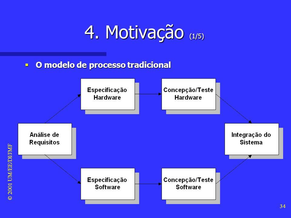 © 2001 UM/EE/DI/JMF 33 3. Taxinomia (15/15) Fases do ciclo de vida (cont.) Fases do ciclo de vida (cont.) –O ciclo de vida dum sistema complexo é divi