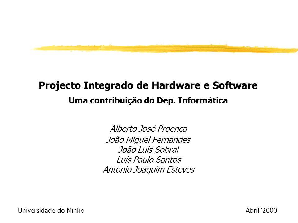 Projecto Integrado de Hardware e Software Uma contribuição do Dep.