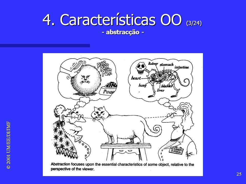 © 2001 UM/EE/DI/JMF 24 4. Características OO (2/24) - simplicidade na interface -