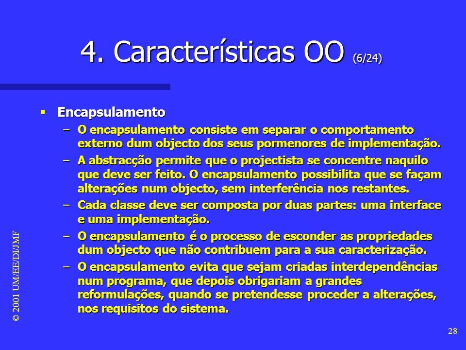 © 2001 UM/EE/DI/JMF 27 4. Características OO (5/24) - encapsulamento -