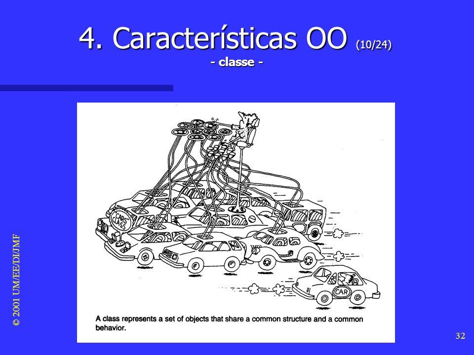© 2001 UM/EE/DI/JMF 31 4. Características OO (9/24) - classificação -
