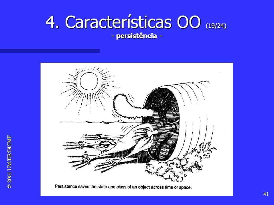 © 2001 UM/EE/DI/JMF 40 4. Características OO (18/24) - modularidade -