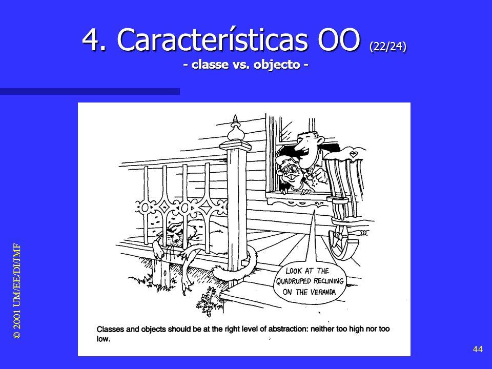 © 2001 UM/EE/DI/JMF 43 4. Características OO (21/24) - tipos -