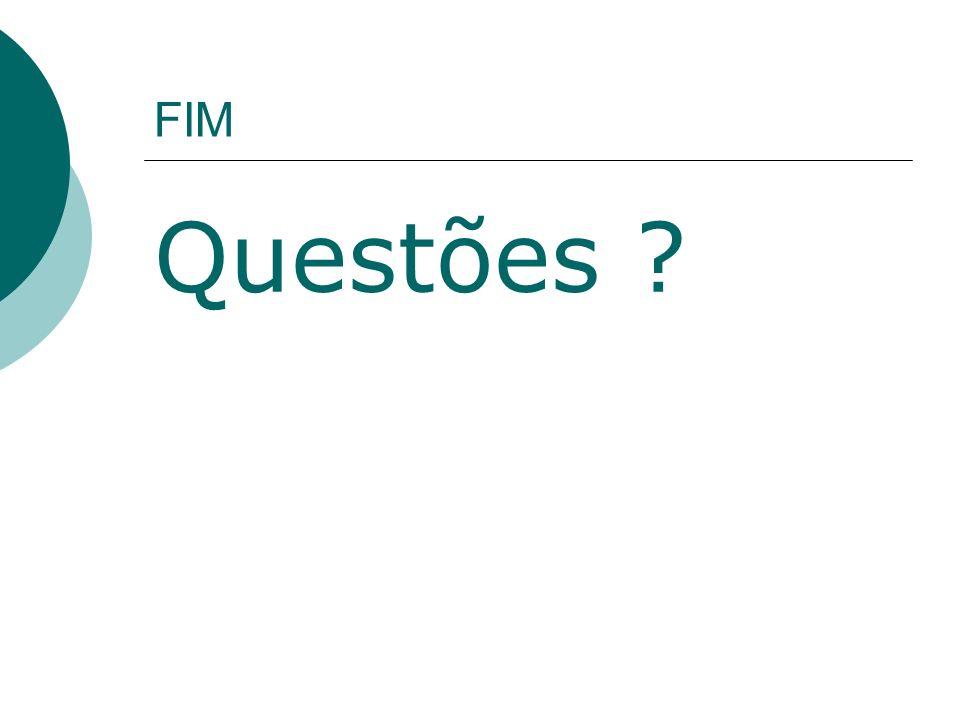 FIM Questões ?