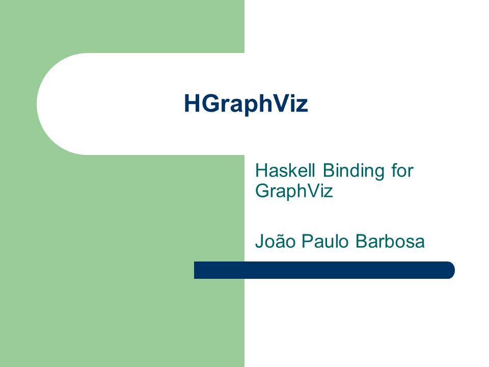 HGraphViz Haskell Binding for GraphViz João Paulo Barbosa