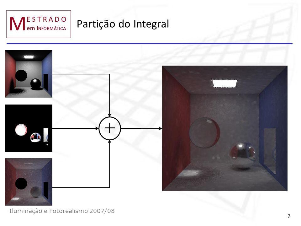 Partição do Integral Iluminação e Fotorealismo 2007/08 7