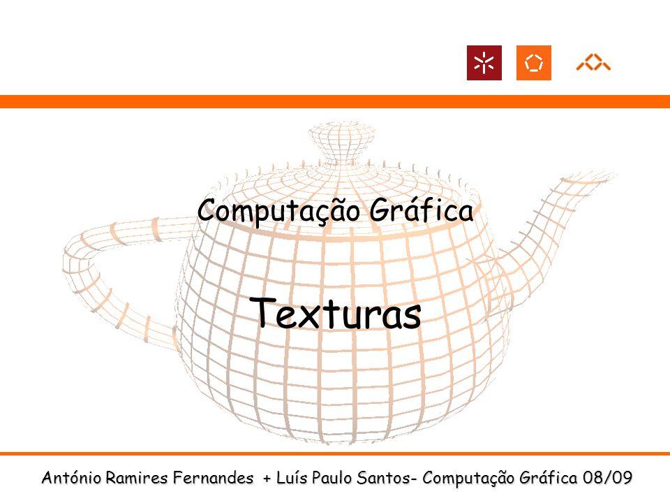 António Ramires Fernandes + Luís Paulo Santos- Computação Gráfica 08/09 Computação Gráfica Texturas