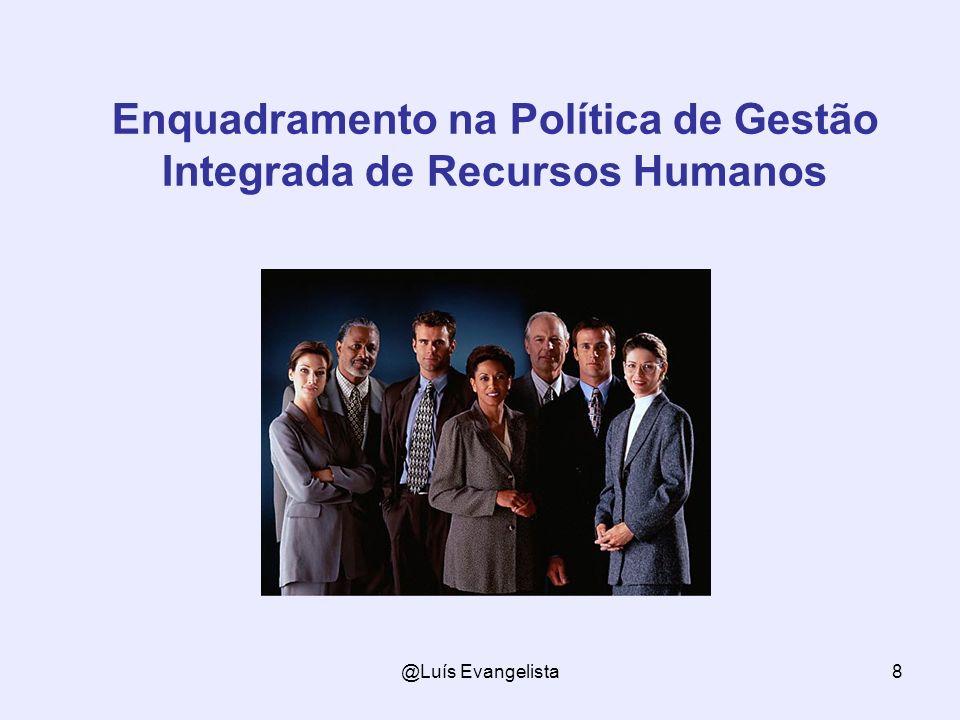 @Luís Evangelista8 Enquadramento na Política de Gestão Integrada de Recursos Humanos