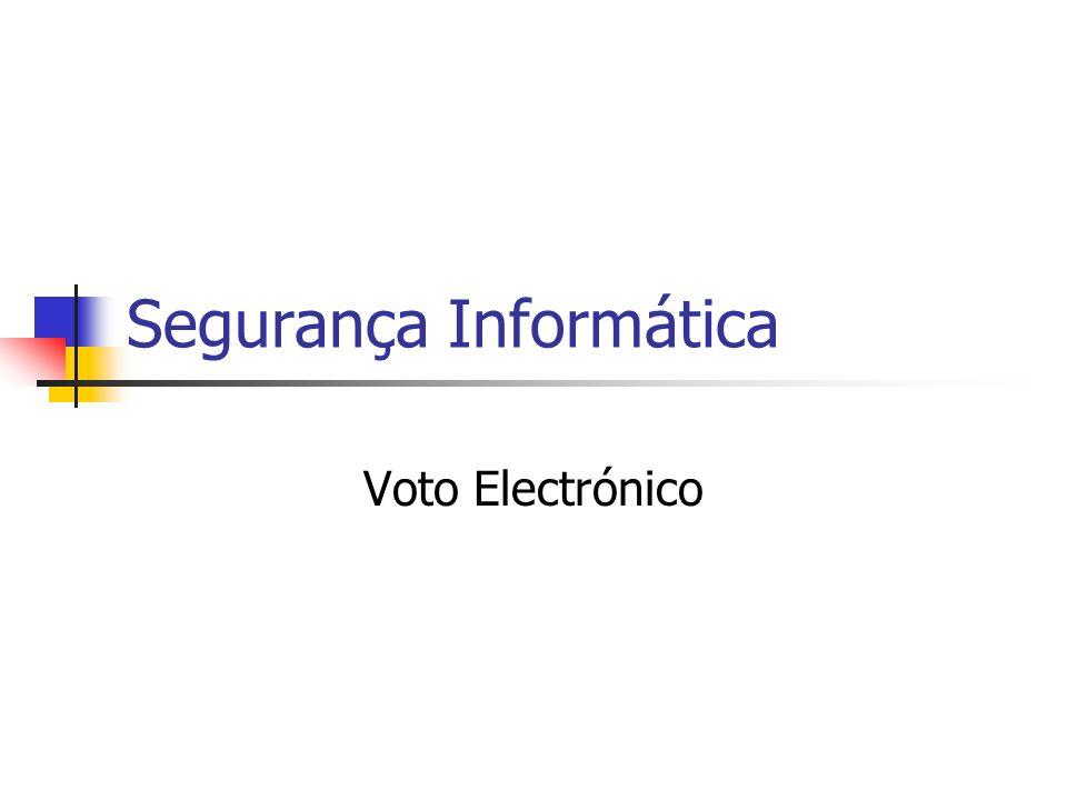 Segurança Informática Voto Electrónico
