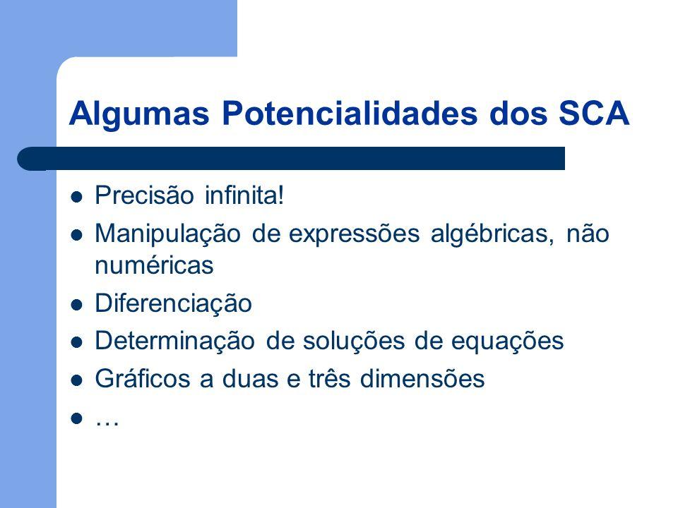 Algumas Potencialidades dos SCA Precisão infinita.