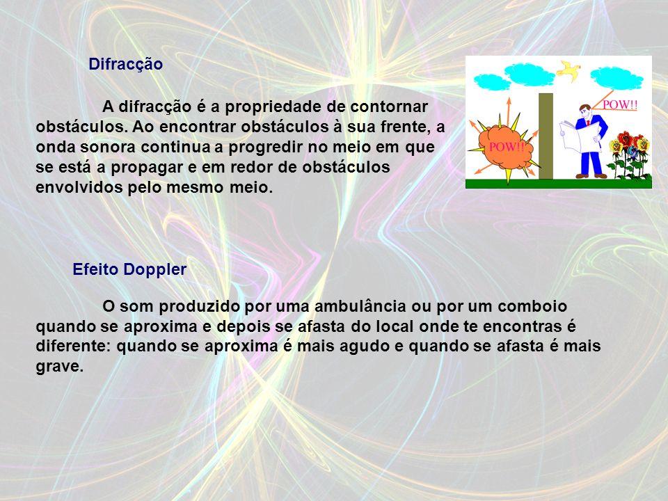 A refracção do som caracteriza o desvio sofrido pela frente da onda quando ela passa de um meio para outro, cuja elasticidade (ou compressibilidade, p