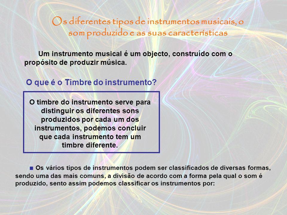 Índice: Os diferentes tipos de instrumentos musicais, o som produzido e as suas características; O que é o som; As aplicações do som; A audição dos Se