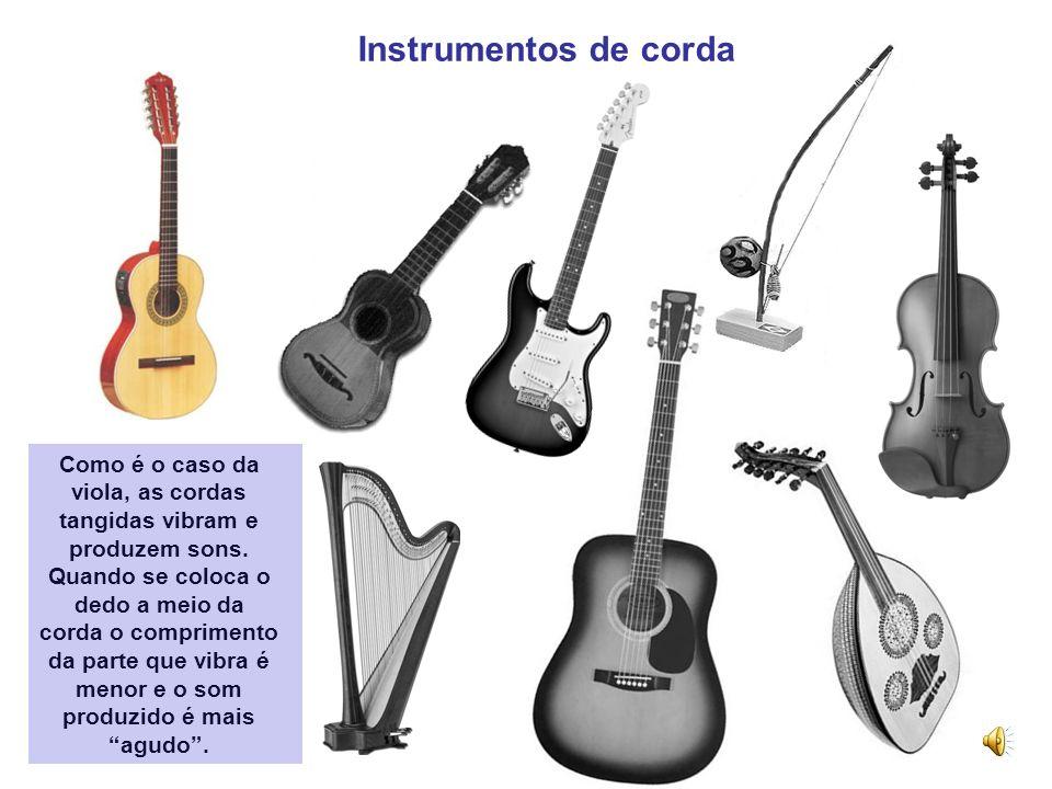 Os diferentes tipos de instrumentos musicais, o som produzido e as suas características Um instrumento musical é um objecto, construído com o propósit