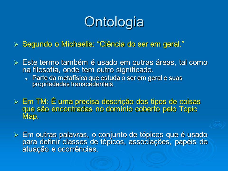 Ontologia Segundo o Michaelis: Ciência do ser em geral. Segundo o Michaelis: Ciência do ser em geral. Este termo também é usado em outras áreas, tal c