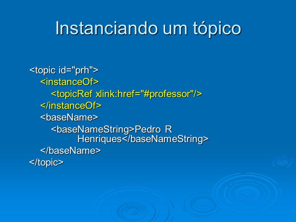 Instanciando um tópico Pedro R Henriques Pedro R Henriques