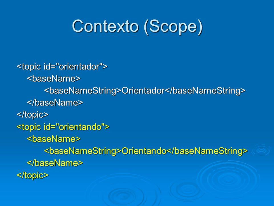 Contexto (Scope) <baseName><baseNameString>Orientador</baseNameString></baseName></topic> <baseName><baseNameString>Orientando</baseNameString></baseN