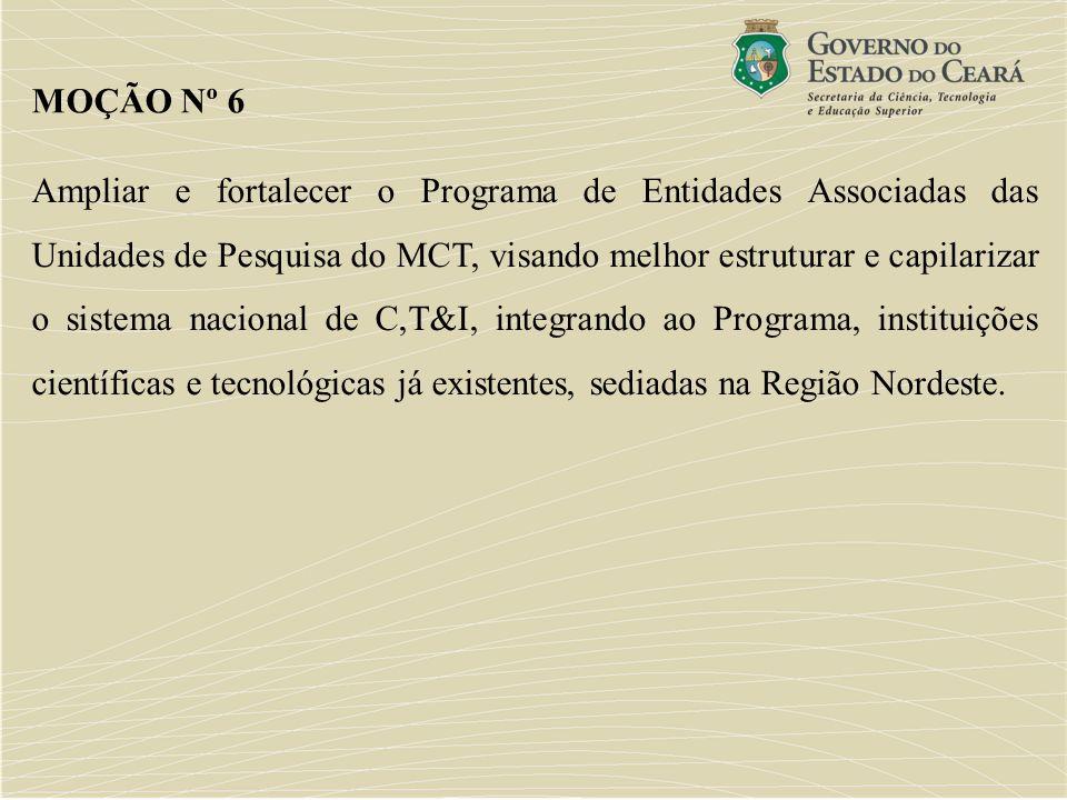 Ampliar e fortalecer o Programa de Entidades Associadas das Unidades de Pesquisa do MCT, visando melhor estruturar e capilarizar o sistema nacional de