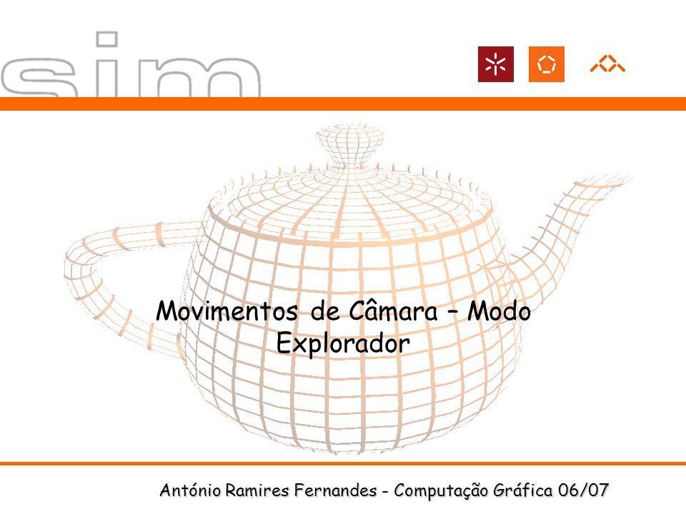 António Ramires Fernandes - Computação Gráfica 06/07 Movimentos de Câmara – Modo Explorador