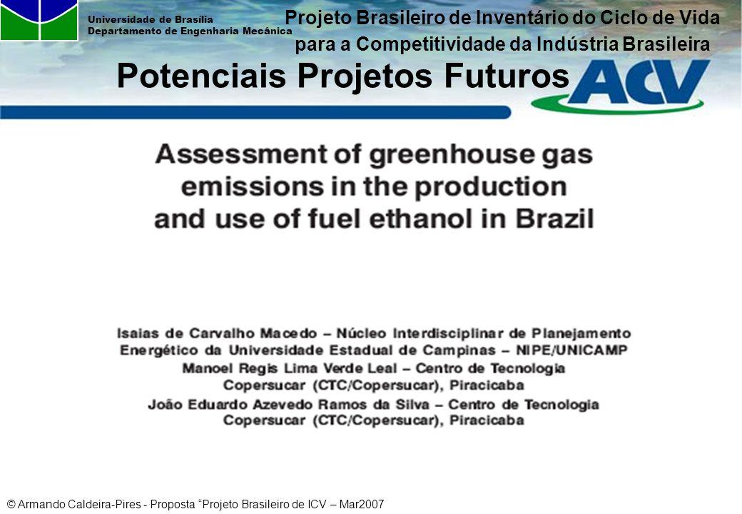 © Armando Caldeira-Pires - Proposta Projeto Brasileiro de ICV – Mar2007 Universidade de Brasília Departamento de Engenharia Mecânica Potenciais Projet