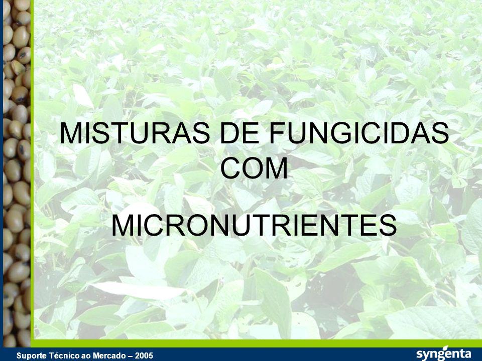 Suporte Técnico ao Mercado – 2004 Suporte Técnico ao Mercado – 2005 MISTURAS DE FUNGICIDAS COM MICRONUTRIENTES