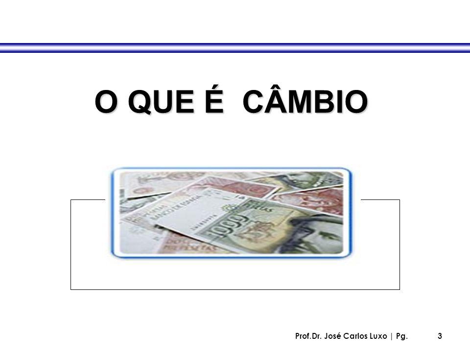 Prof.Dr. José Carlos Luxo | Pg.3 O QUE É CÂMBIO