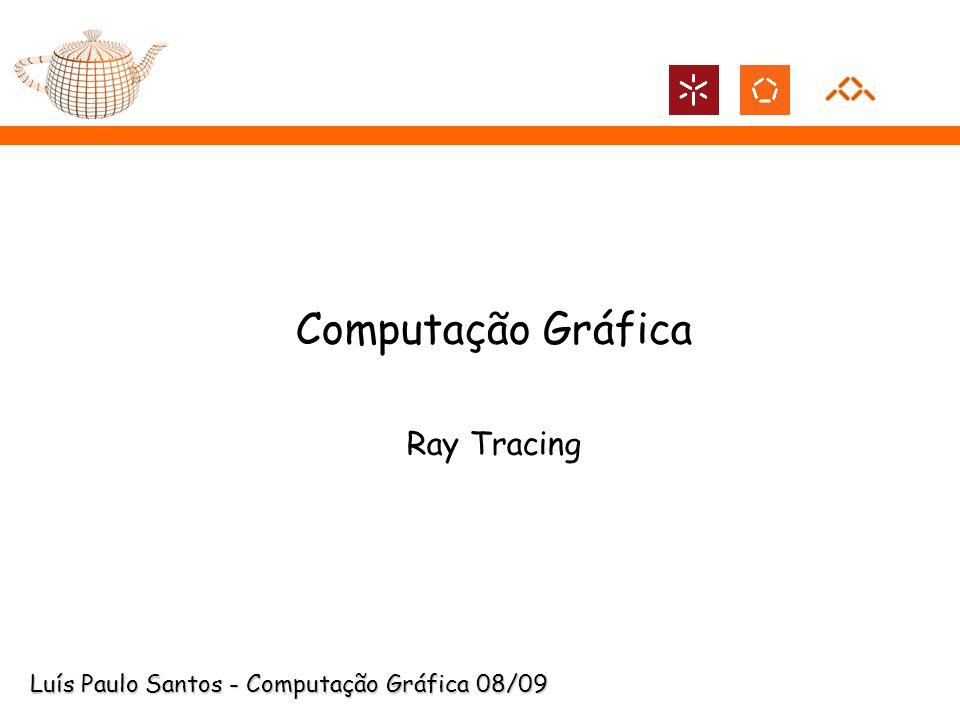 Ray Tracing: Iluminação Indirecta Para calcular a radiância incidente em x ao longo de cada uma das direcções R e T devem ser enviados raios secundários ao longo de cada uma destas direcções.