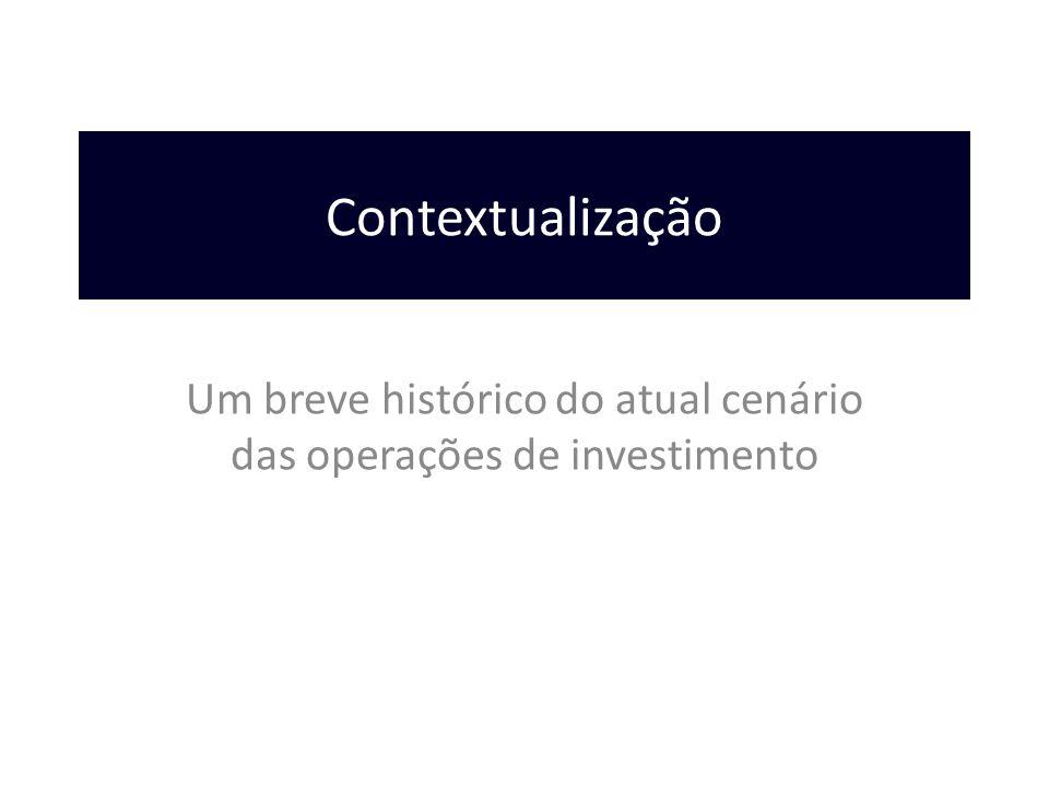 Contextualização Um breve histórico do atual cenário das operações de investimento