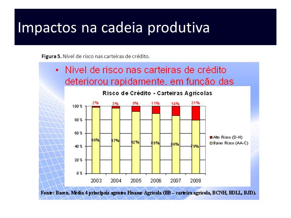 Impactos na cadeia produtiva Figura 5. Nível de risco nas carteiras de crédito.